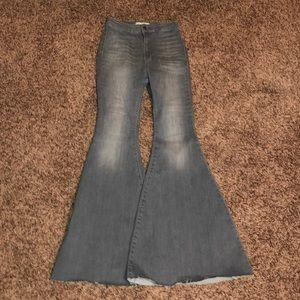 Free People Grey Bell Bottoms